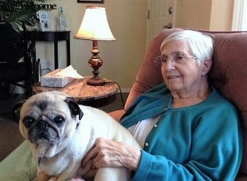 mom 2013 with Pug